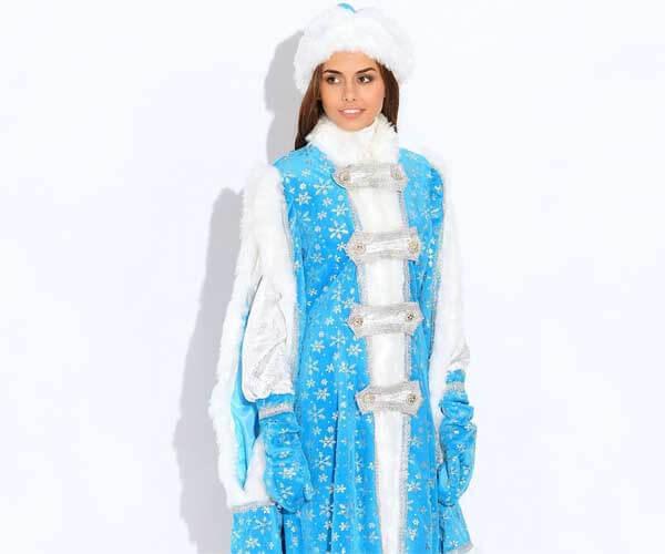 Костюм Снегурочки Боярыня купить в Москве