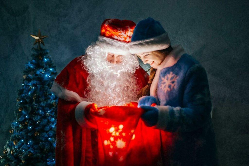 Праздник в костюме Деда Мороза
