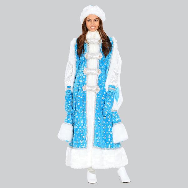 Костюм Снегурочки Боярыня голубой