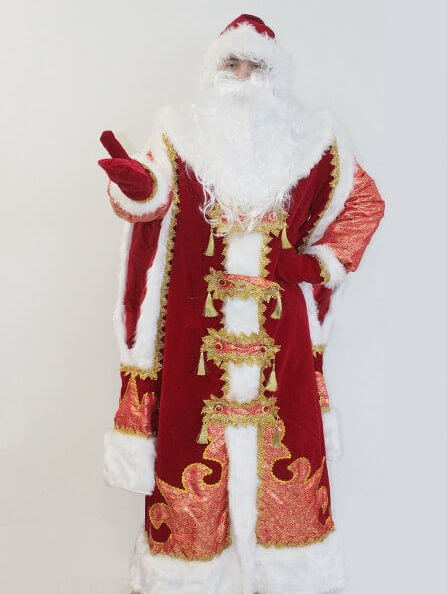 Костюм Деда Мороза Царский красный