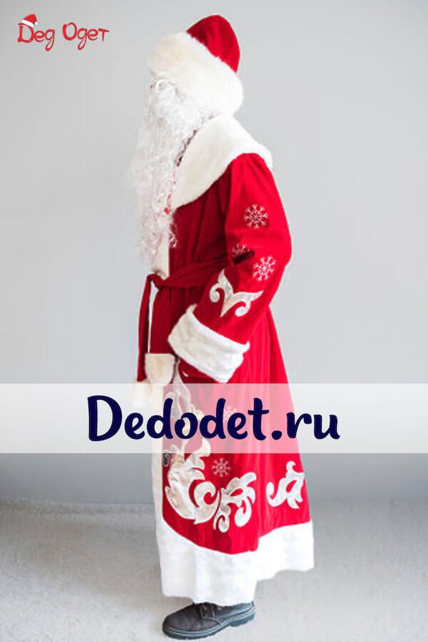 Костюм Деда Мороза Боярский 2