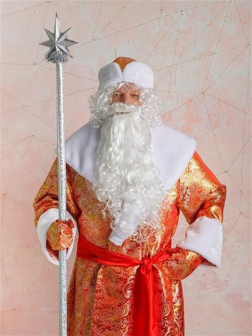 Костюм Деда Мороза Золотой Парчовый 3