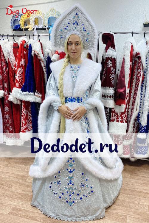 Костюм Снегурочки ВИП ручной работы 1