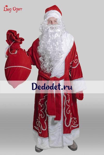 Костюм Деда Мороза Традиционный красный