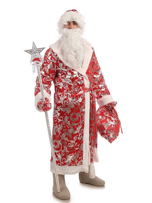 Костюм Деда Мороза Блестящий 1
