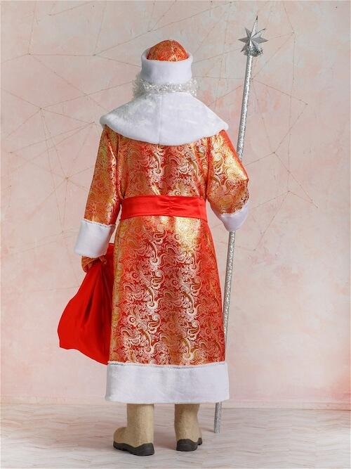 Костюм Деда Мороза Золотой Парчовый 2