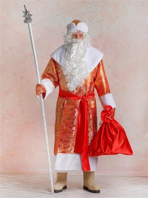 Костюм Деда Мороза Золотой Парчовый 1
