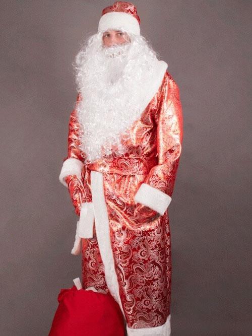 Костюм Деда Мороза Золотой Парчовый 4